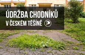 Údržba chodníků v Českém Těšíně