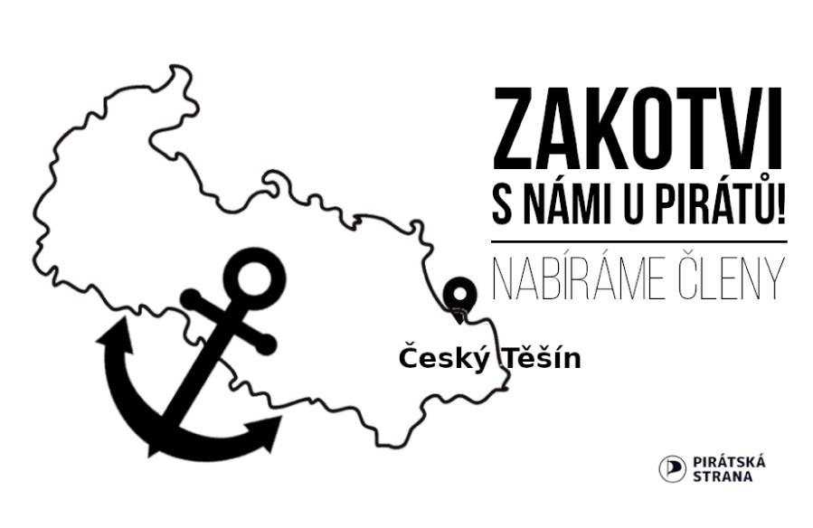 Zakotvi s námi u Pirátů v Českém Těšíně