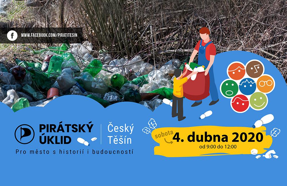 Pozvánka na jarní pirátský úklid Českého Těšína 2020