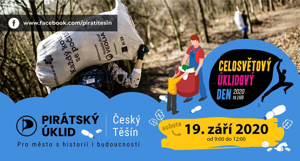 Piráti se zúčastnili akce Ukliďme svět, Ukliďme Česko