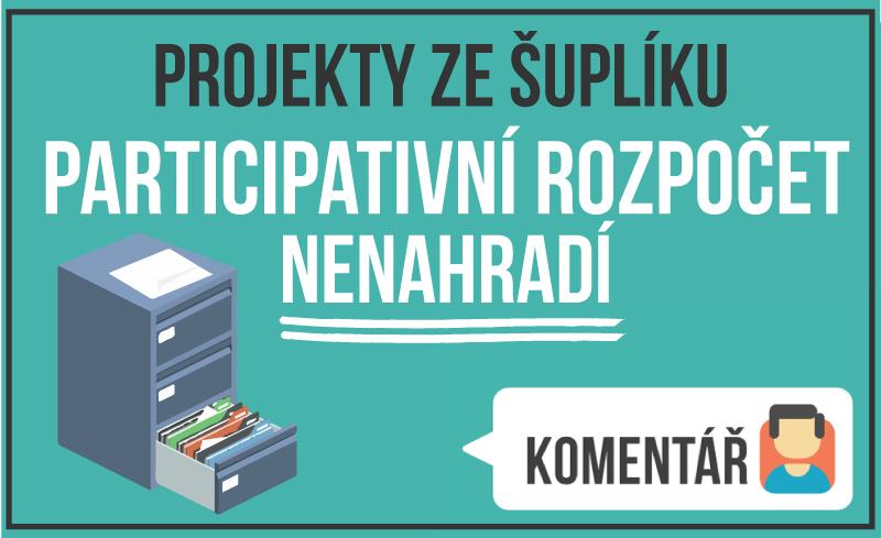Komentář: Projekty ze šuplíku participativní rozpočet nenahradí